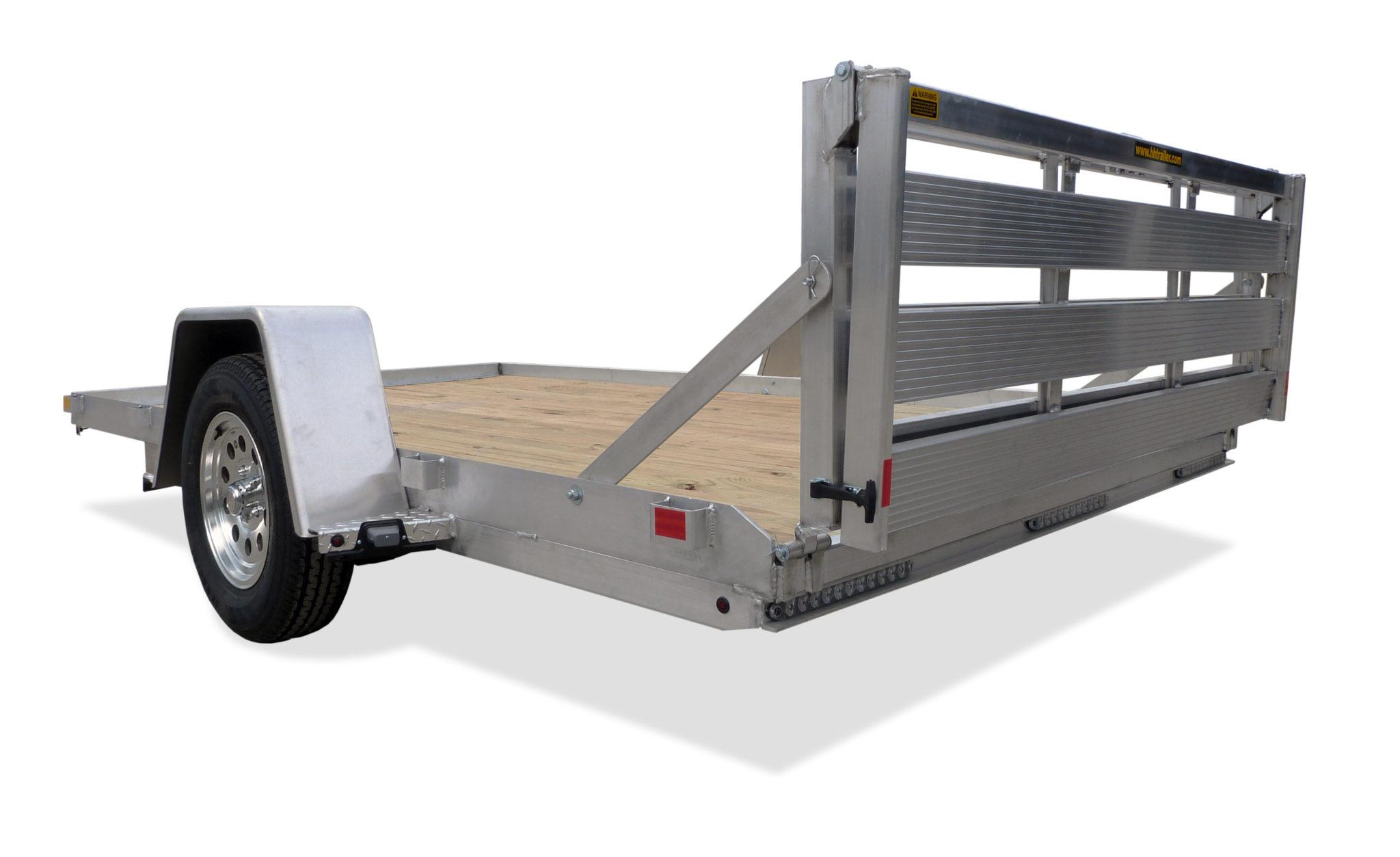 Aluminum Heavy Flatbed Single Axle