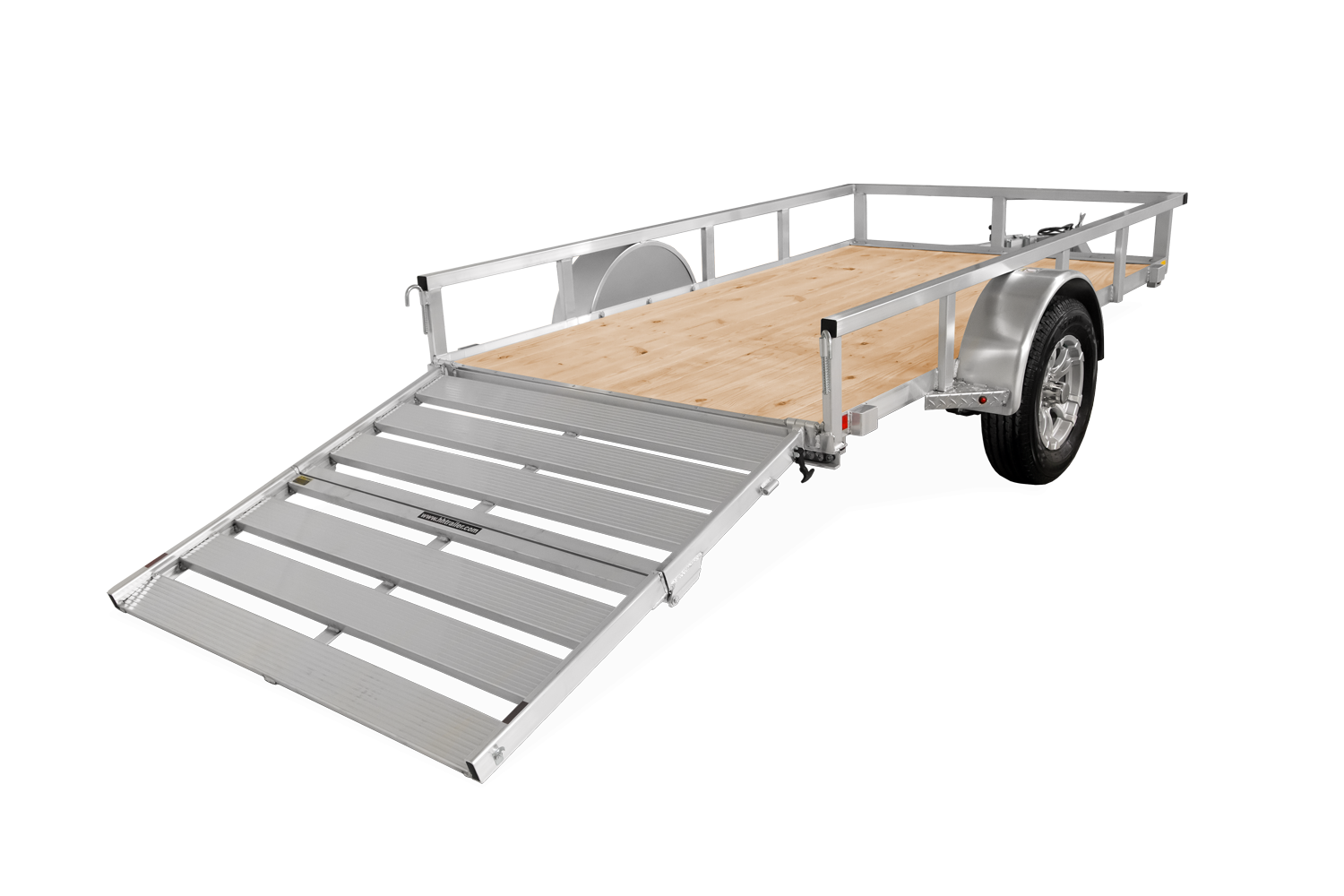H&H Trailers Aluminum Rail Side Utility Rear Gate Loading