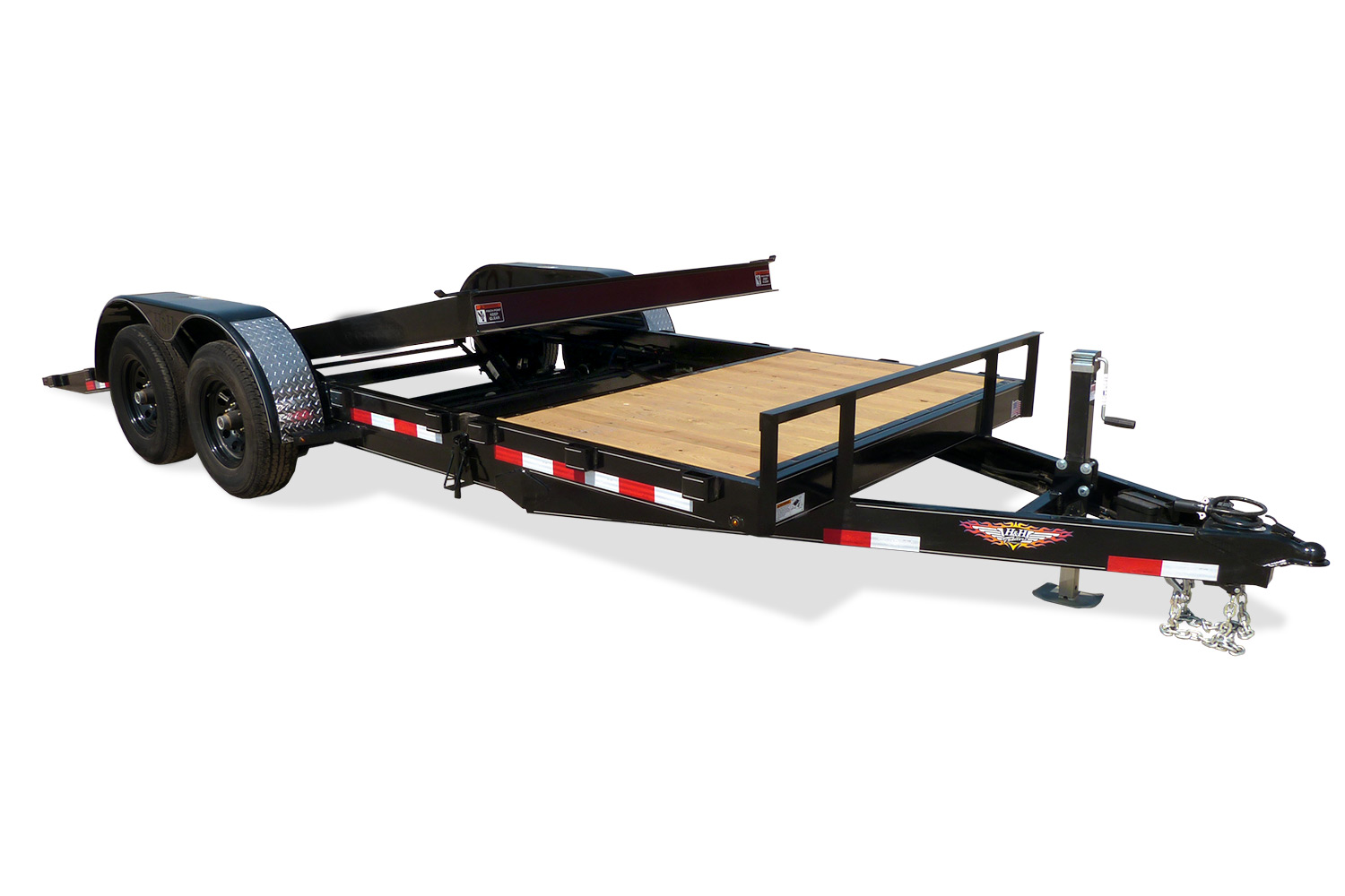H&H Gravity Tilt Equipment Trailer
