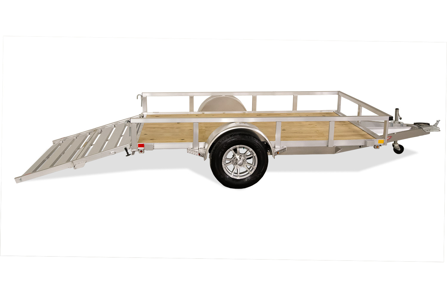 Aluminum Rail Side Utility Trailer with Bifold Gate