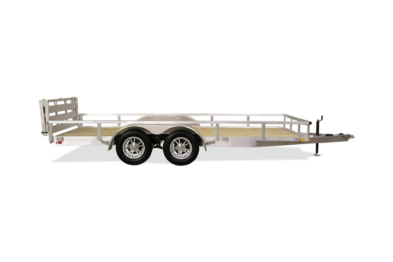 Aluminum Rail Side Utility Tandem Axle Trailer