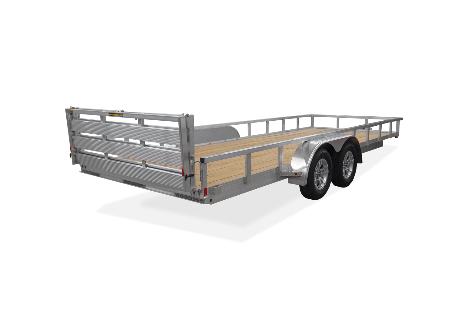 H&H Trailers Aluminum Rail Side Rear Image