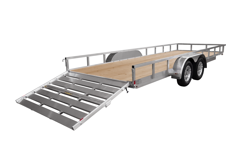 H&H Trailers Aluminum Rail Side Tandem Loading