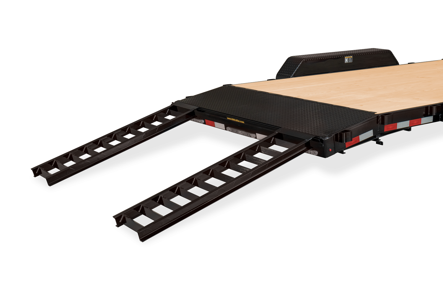 Ramps down on Heavy Duty Flatbed Ramps