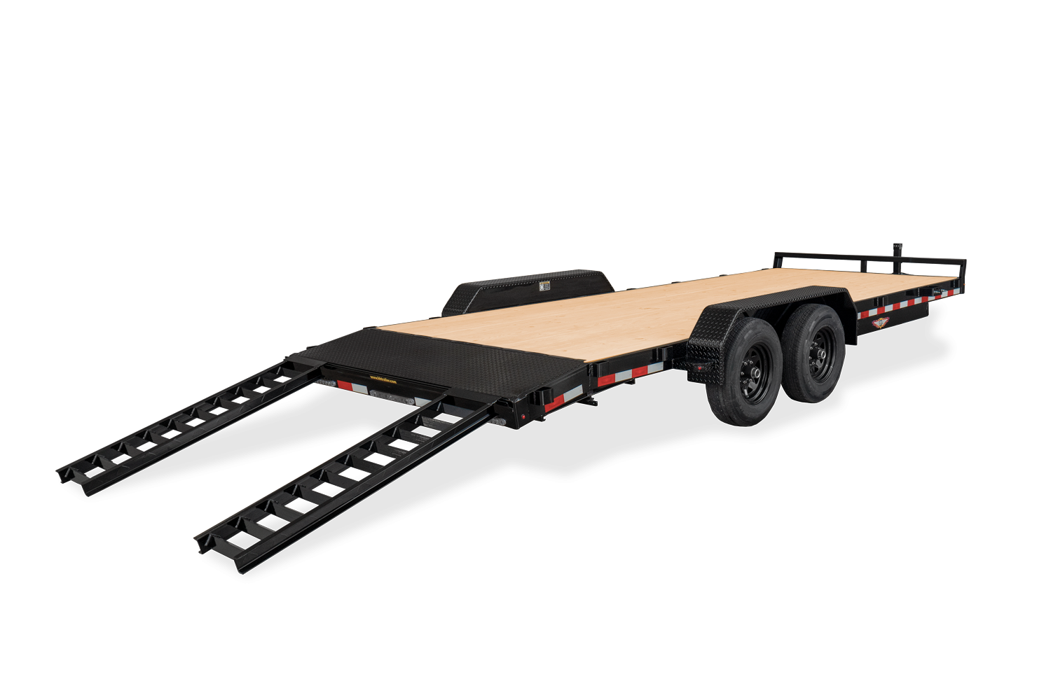 Rear View of the Heavy Duty Flatbed Car Hauler
