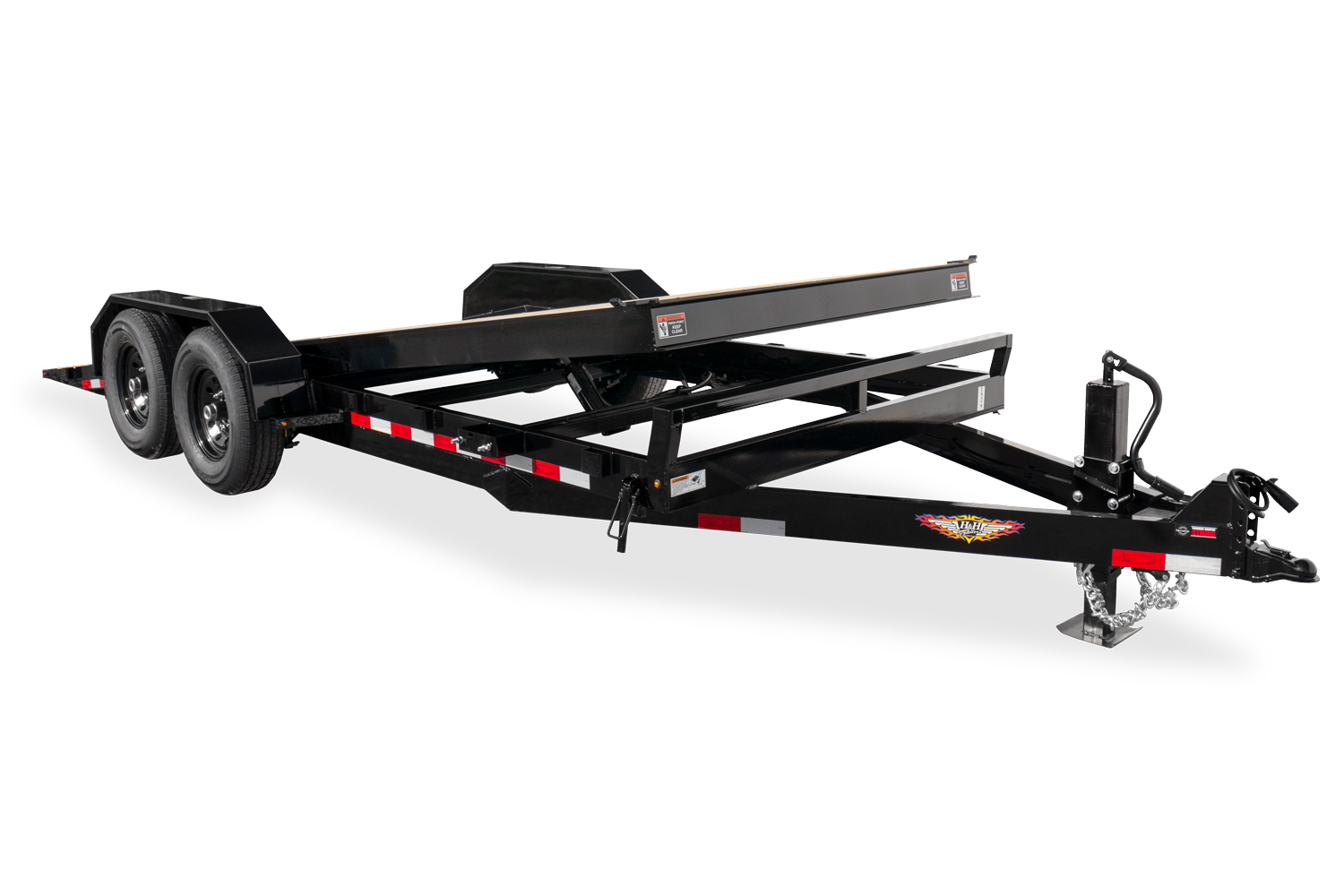 H&H Gravity Full Tilting Equipment Trailer
