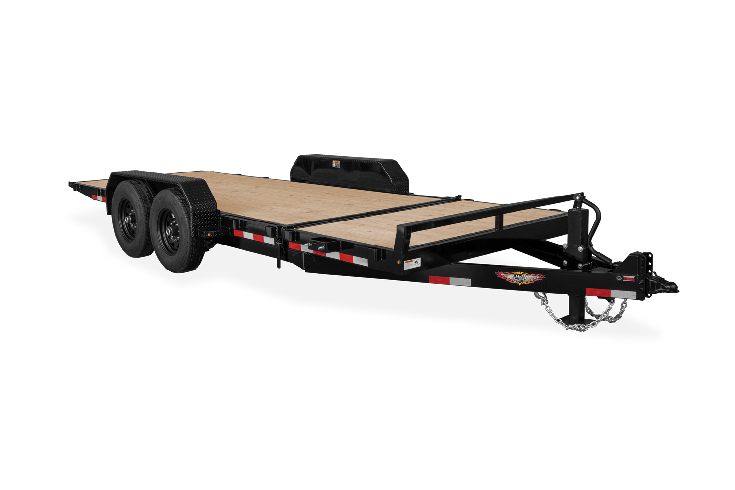 H&H Gravity Tilt Equipment Trailer Stationary Deck
