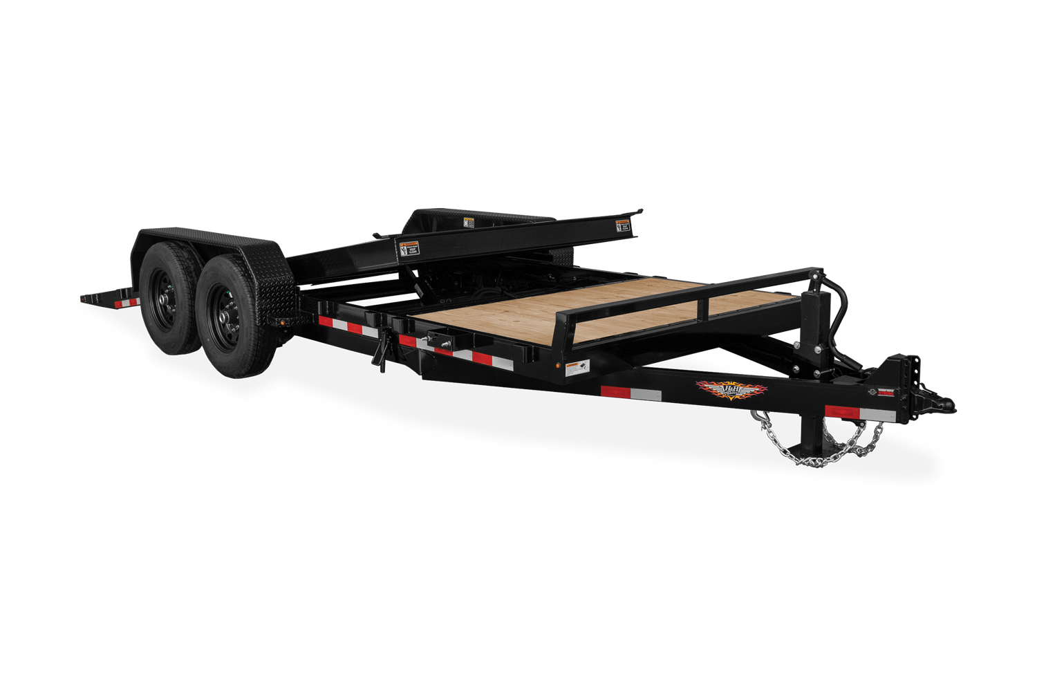 H&H Gravity Tilt Equipment Trailer Tilted Deck