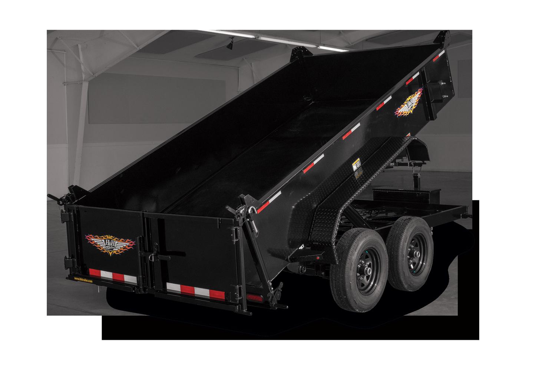 Unloading Material View H&H Dump Trailer